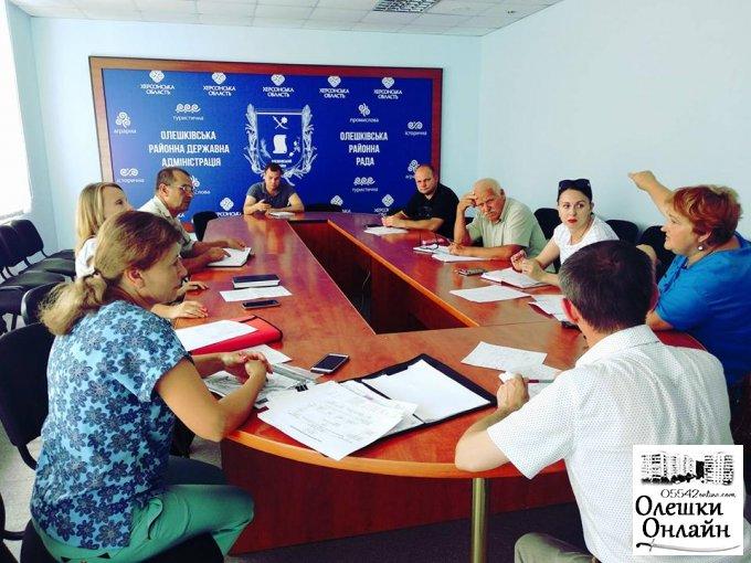 Засідання районної евакуаційної комісії в Олешках
