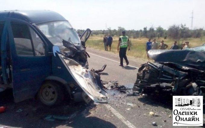 Подробности аварии, которая произошла на трассе Олешки-Голая Пристань