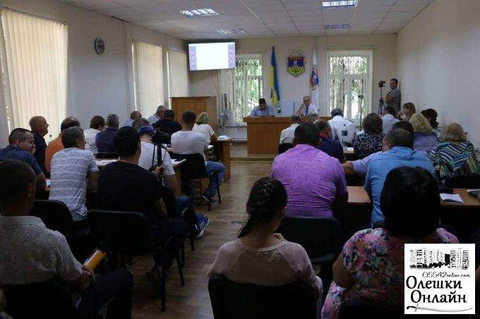 Сесія в Олешківській міській раді розпочалась але не закінчилась