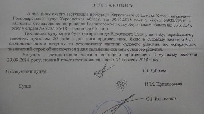 В Олешках предприниматели выиграли все суды у отчаянных политиков