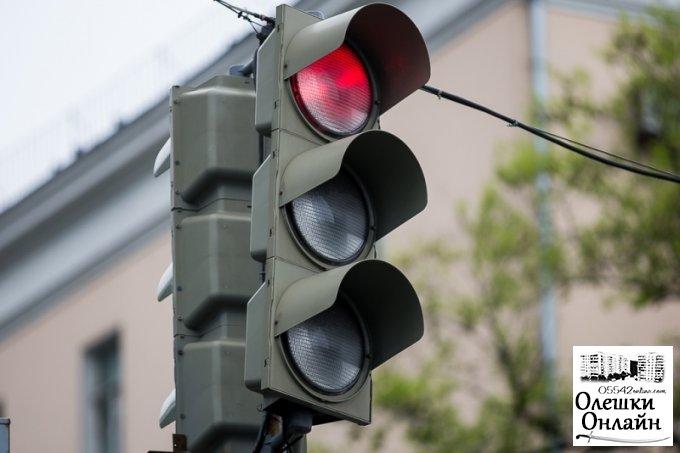 В Олешках установят светофор на оживленном перекрестке?