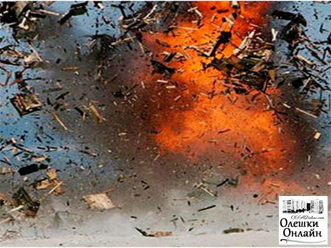 Жилой дом разорвало снарядом в Олешковском районе