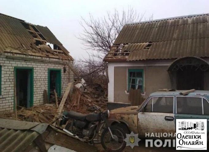 Полиция расследует обстоятельства взрыва в Олешковском районе