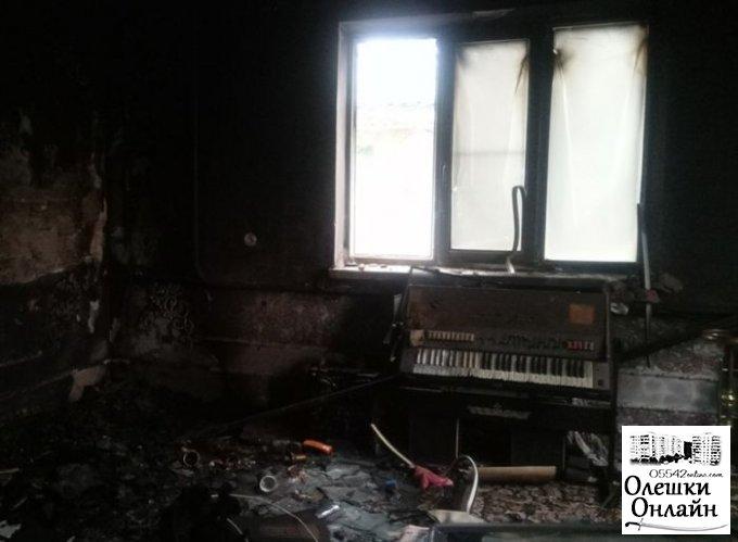 В Олешках во время ликвидации пожара обнаружено тело погибшего владельца дома