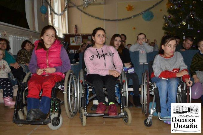 В Олешках з Новим Роком та Різдвом Хрестовим привітали дитячий будинок-інтернат