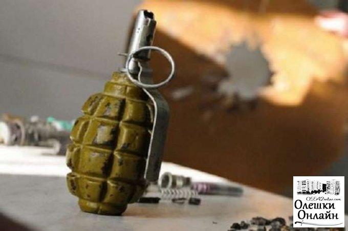Полицейские задержали мужчину, который предлагал олешковцам купить у него гранату