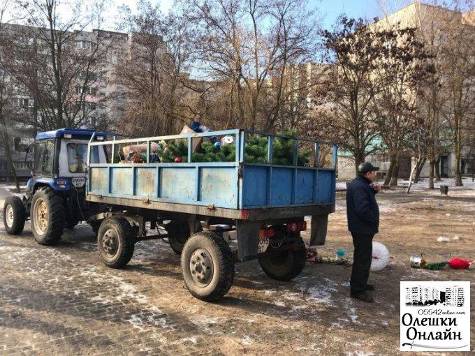 Закінчується пора найочікуваніших зимових свят в Олешках