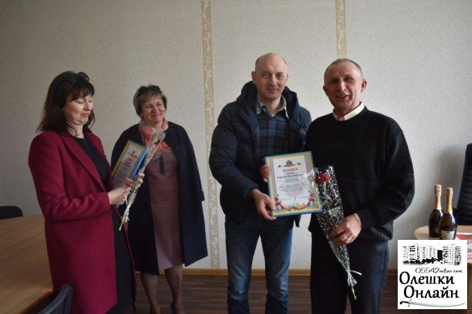 Привітання працівників житлово-комунального господарства  м.Олешки з професійним святом