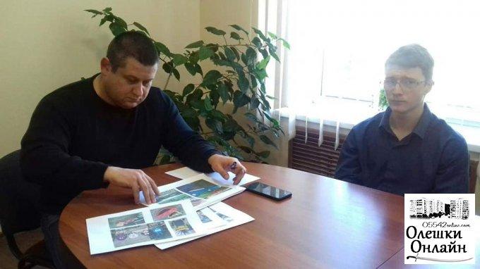 Відбулась зустріч міського голови з учнями Олешківської гімназії