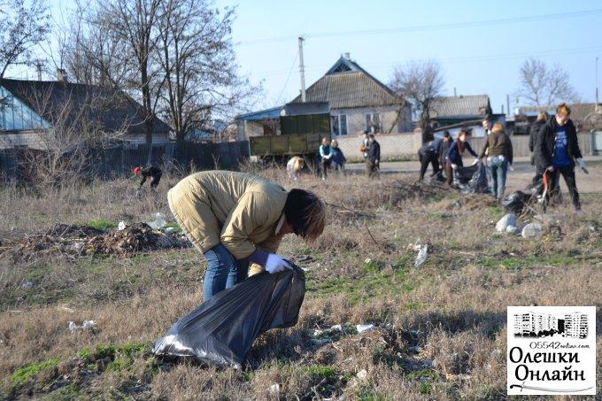 Молодіжна рада міста Олешек долучилась до світового челленджу #trashtag