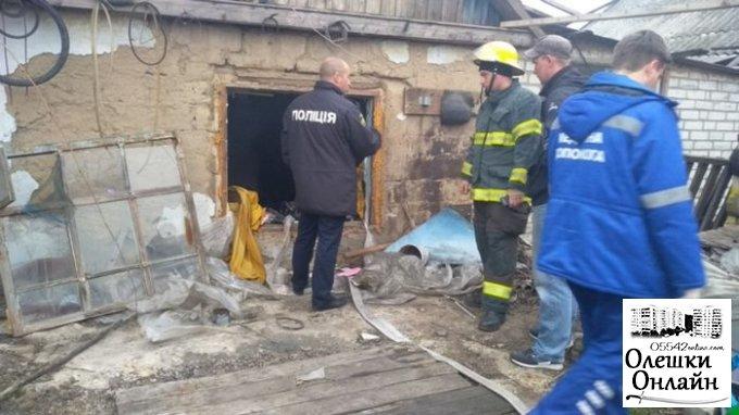 В Олешках во время ликвидации пожара в доме обнаружен погибший 60-летний хозяин