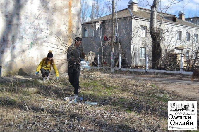В Олешках весна – час наведення порядку