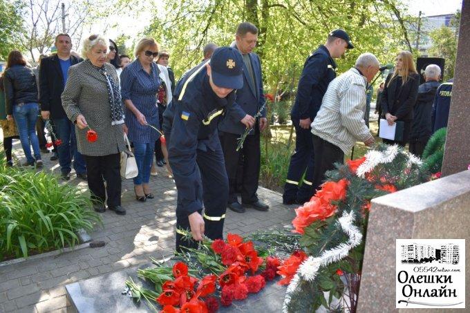 Олешківці вшанували пам'ять ліквідаторів Чорнобильської катастрофи
