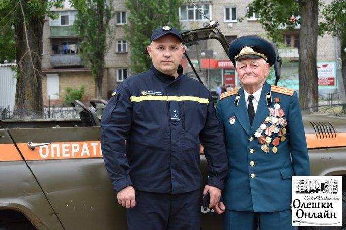 В Олешках відбувся урочистий мітинг, з нагоди Дня Пам'яті та Примирення та відзначення 74-ї річниці перемоги над нацизмом в Україні