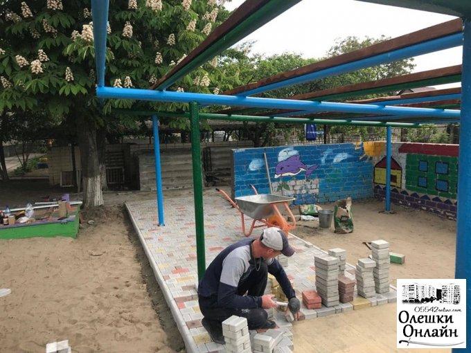 В ДНЗ № 6 розпочато ремонтні роботи дитячих ігрових павільйонів