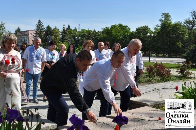Привітання Олешківського міського голови Дмитра Воронова  з Днем вишиванки