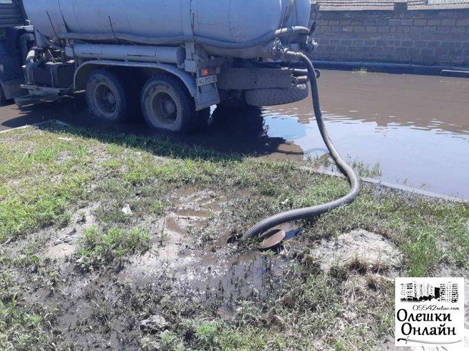 Ліквідації скупчення дощових вод в Олешках