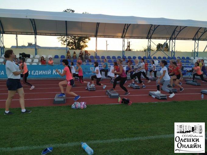 В Олешках відбулось друге тренування в рамках першого відкритого фітнес-марафону