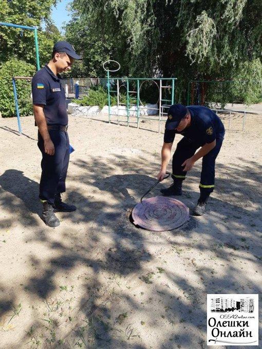 В Олешківських ДНЗ здійснено заходи щодо утримання в належному стані засобів протипожежної безпеки