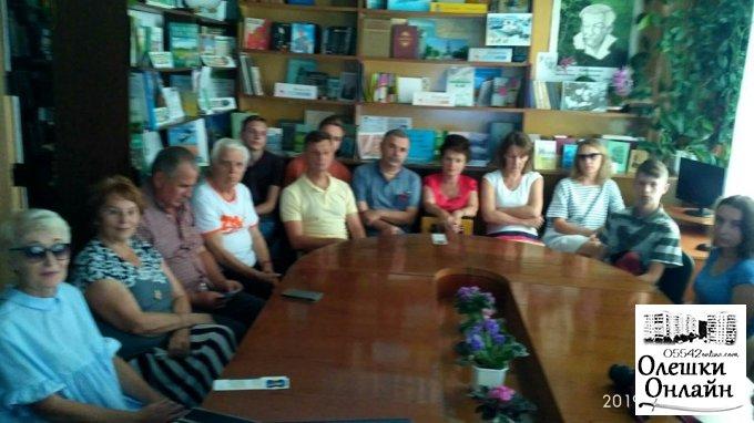 Літературний тур «Книгомандри Херсонщиною» завітав до Олешківської міської бібліотеки №3 ім. К.Г. Кудієвського