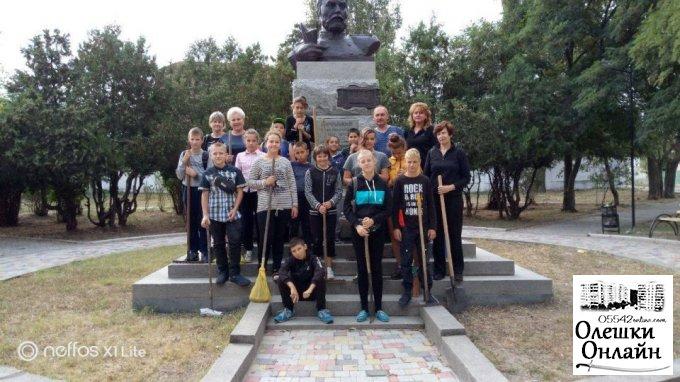 Учні спеціальної загальноосвітньої школи І-ІІІ ступенів долучились до впорядковування парку ім. Ф.А.Піроцького