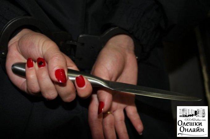 Жительница Олешковского района ранила ножом сожителя