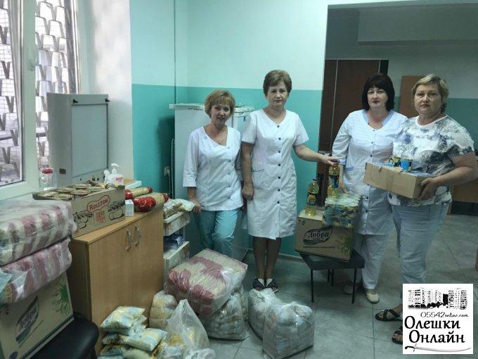 Допомога хворим на туберкульоз в Олешках.