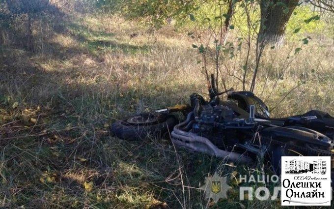 В результате ДТП нв Олешковском районе погиб мотоциклист