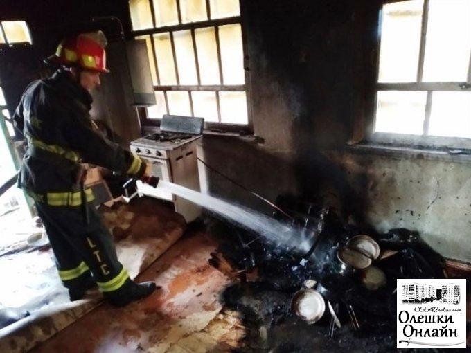 В Олешковском районе мужчина погиб на пожаре