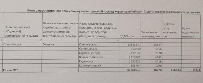 Кто и что принесет в Олешковскую ОТГ?