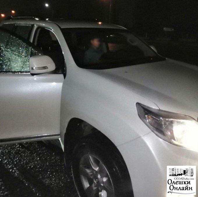 В Олешках задержали пьяного 'бесправного' херсонца за рулем 'Тойоты'