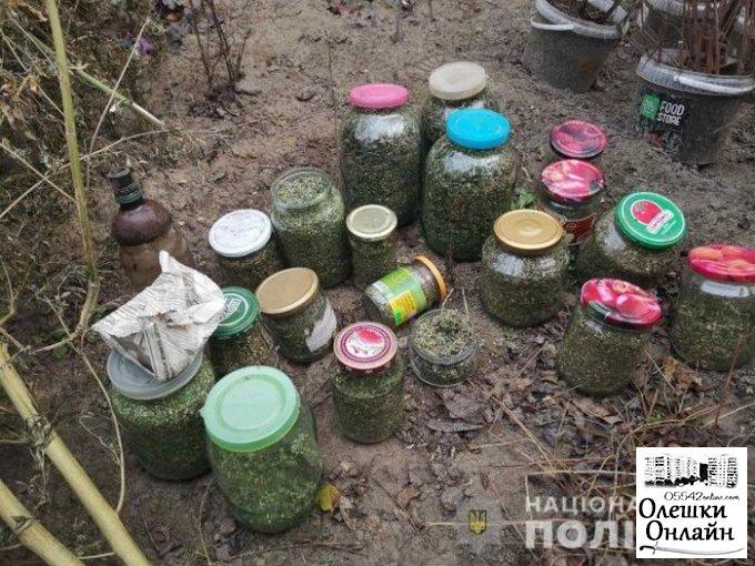 У жителя Олешковского района оперативники изъяли 8 килограммов каннабиса