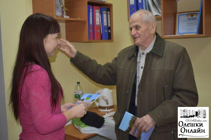В Олешківській міській раді відбулась зустріч з видатним олешківцем