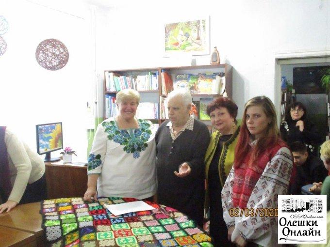 Зустріч із чудовою майстринею Олешківського краю в Олешківській міській бібліотеці №3