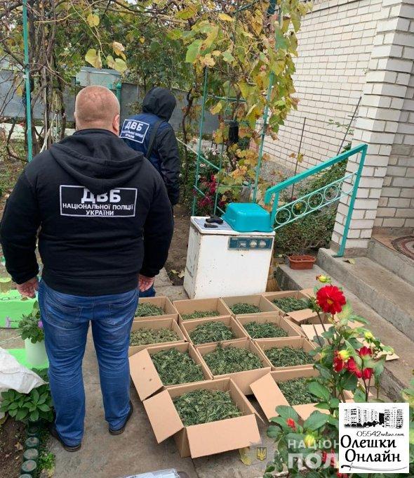 Семейный запретный бизнес пресекли правоохранители в Олешковском районе