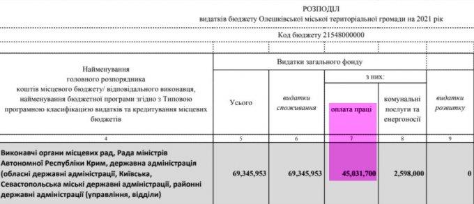 Во сколько Олешковской ОТГ обойдется структура управления Рищука?