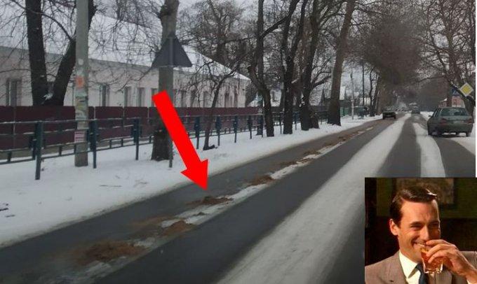 В Олешках на борьбу со снегом кинули революционные нано технологии