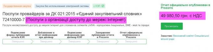 На что и по каким ценам в Олешках тратят деньги налогоплательщиков